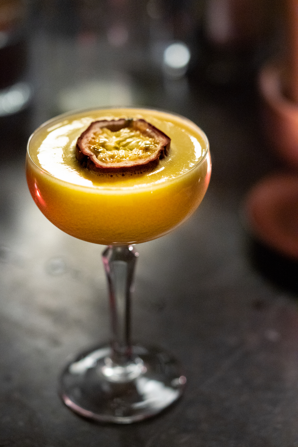 Maracuya sour cocktail