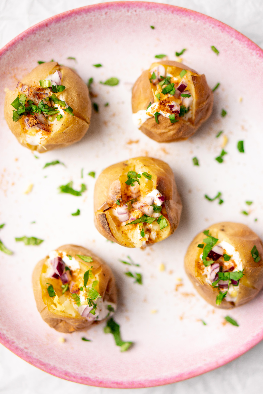 Gepofte aardappel Indiaas