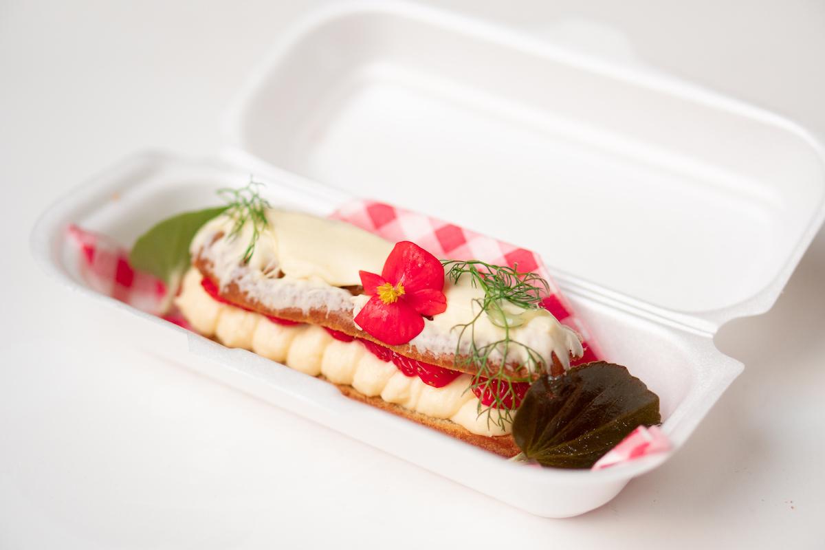 Kaagman & Kortekaas eclair met aardbeien
