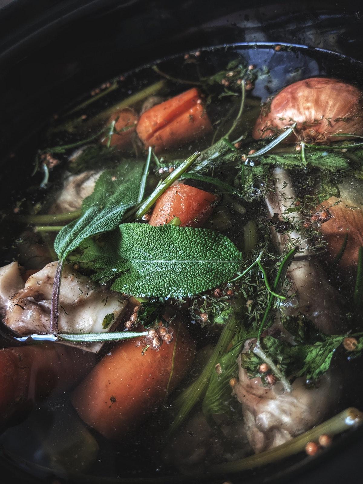 Zelfgemaakte bouillon