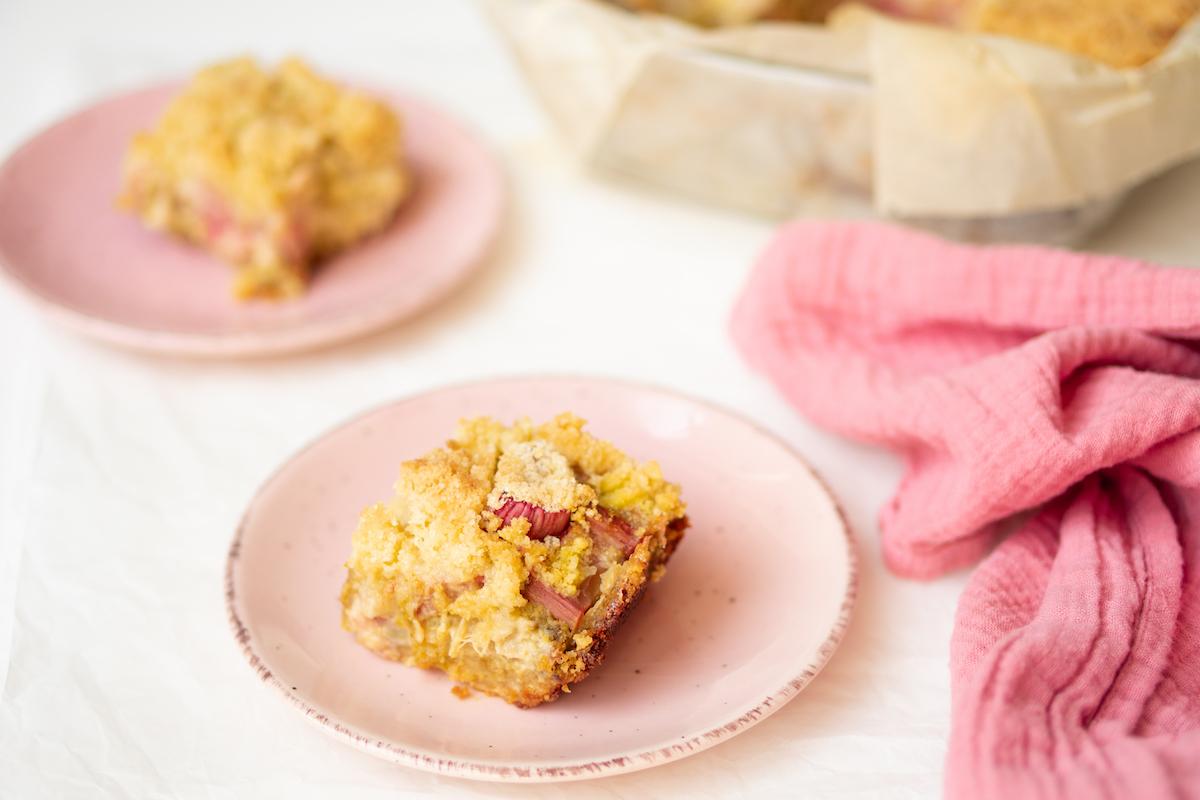 Rabarber crumble met pistache