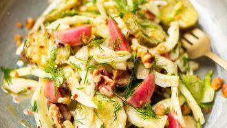 Zoetzure salade met augurk