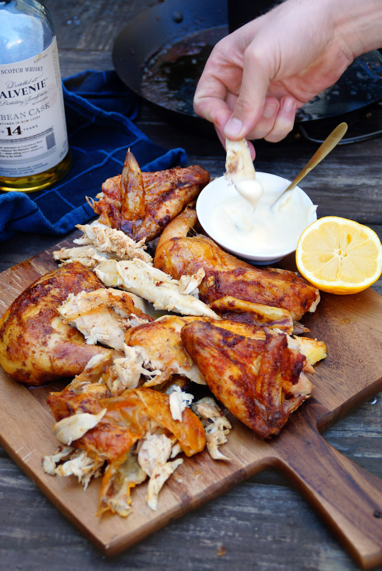 Whisky can chicken van de barbecue