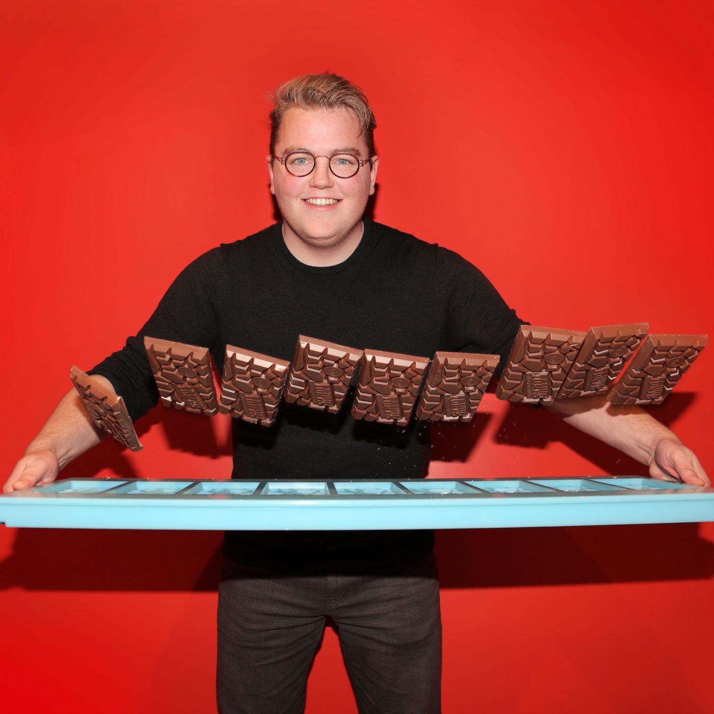 Bas chocolatier bij Tony's Chocolonely