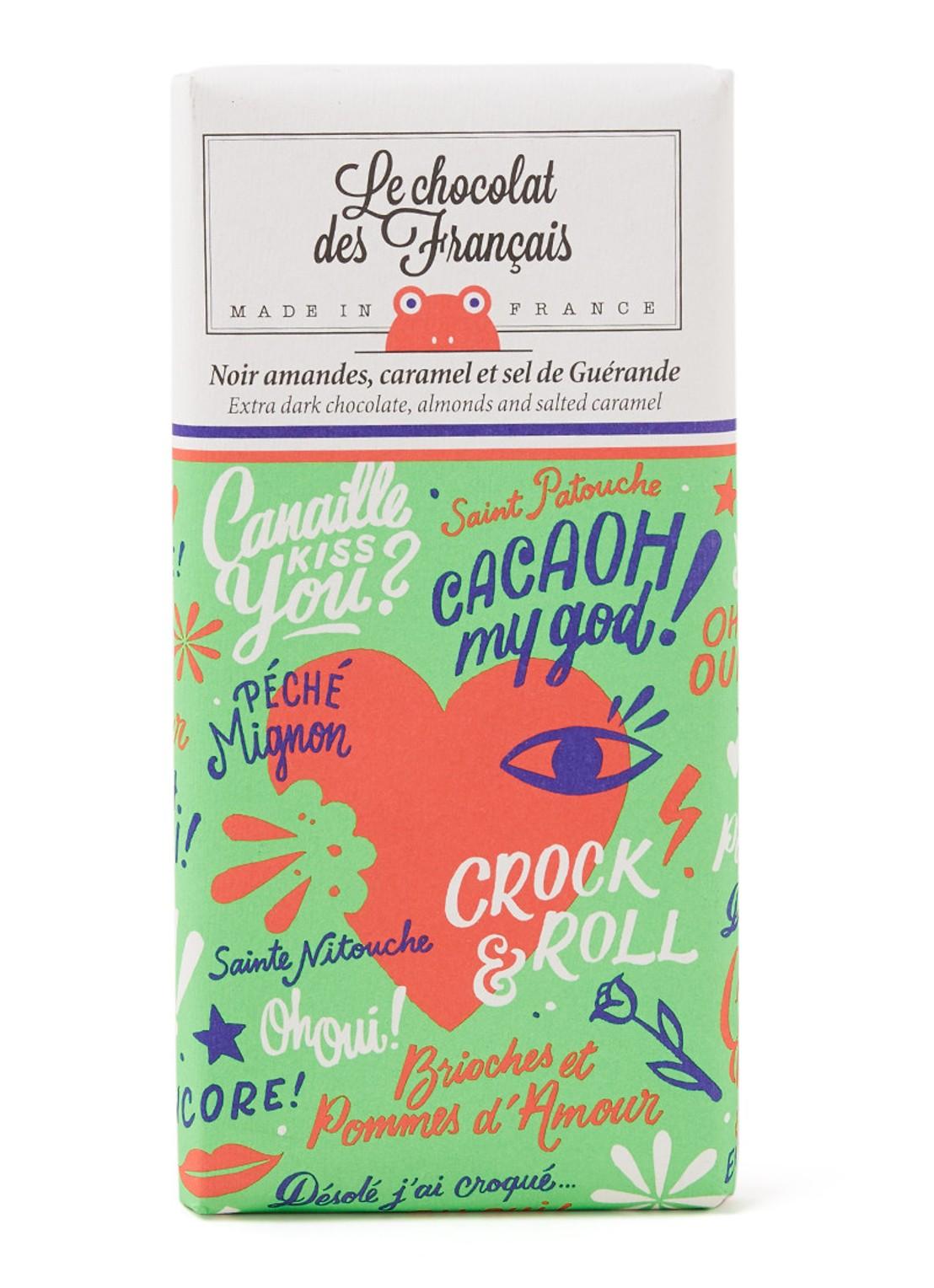 Le chocolat des Français extra pure chocolade, amandel en zoute karamel