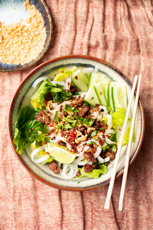 Vietnamese noedelsalade
