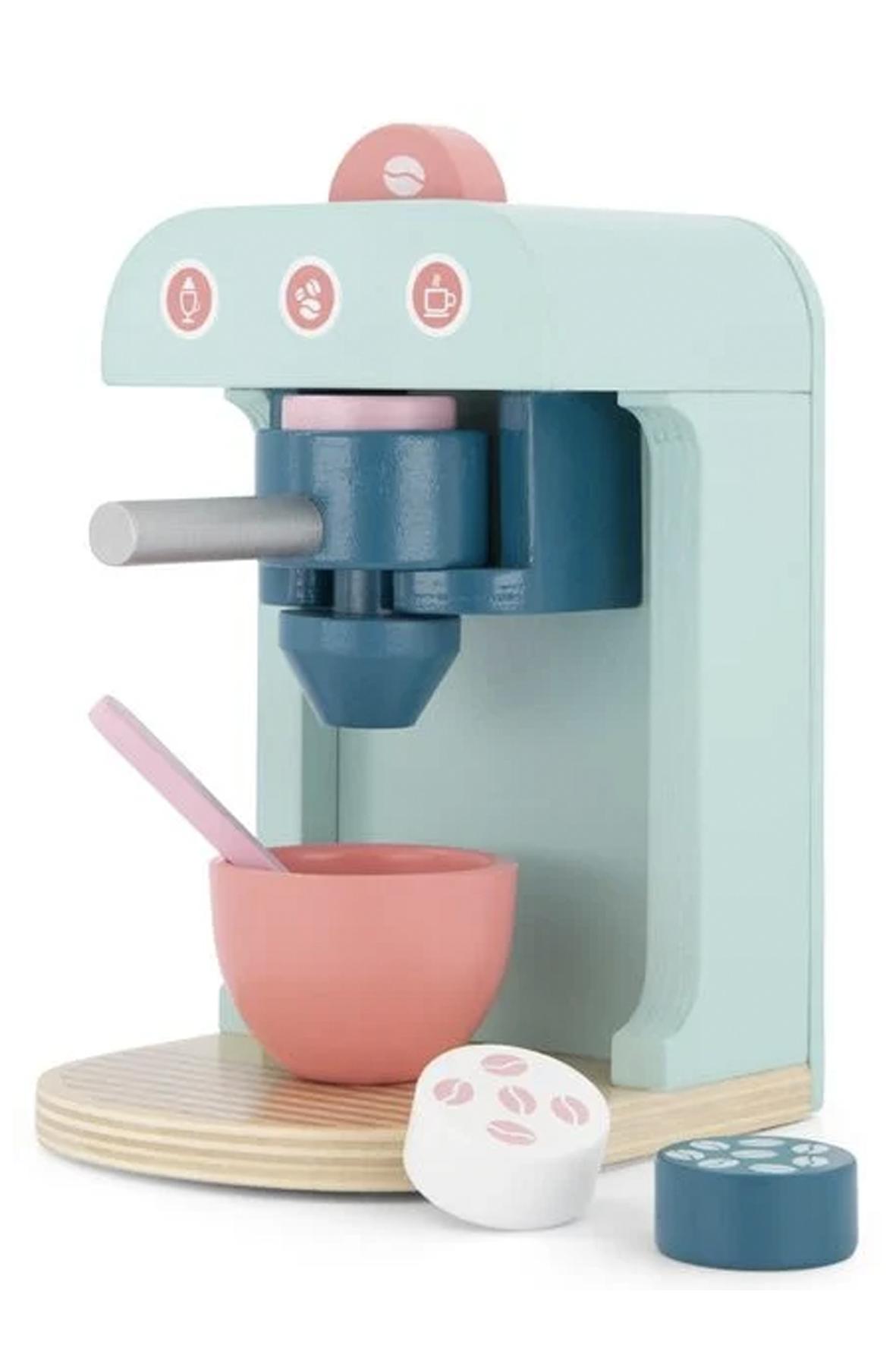 houten cappuccino apparaat als voorbeeld van cadeaus voor jonge foodies